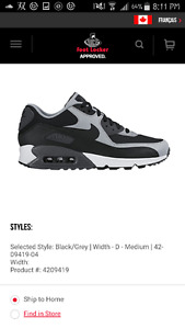 Nike Airmax 90 size 10.5 mens (protective spray can be applied)
