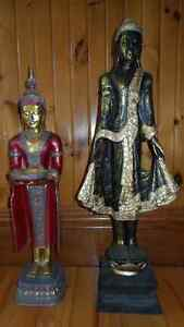 2 STATUES INDIENNES