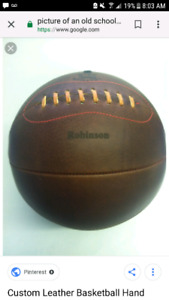 Wanted old school leather medicine ball