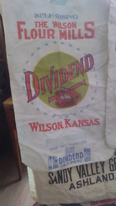 Antique feed bags.