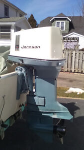 1969 Classic Johnson 85HP Outboard Motor w Controls