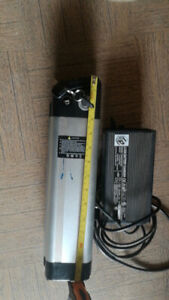 E-Bike's Lithium battery and charger for sale $150