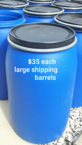 Large clean food grad barrels for shipping/storage 3 for $100