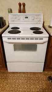 White Whirlpool stove