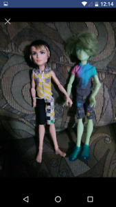2 boy monster high dolls $20 for both