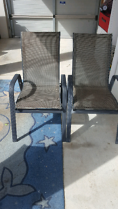 2 Very nice out door chairs in vgc.10 dollars each.