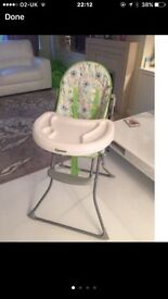 Cyane high chair excellent condition