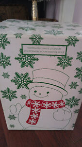 SNOWMAN CANDLE HOLDER LUMINARY - FOR BED & BATH LARGE CANDLES Peterborough Peterborough Area image 3