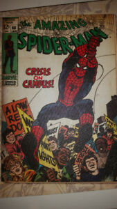 CANVAS WRAPPED MARVEL COMICS BOOK SPIDER-MAN ISSUE COVER #68
