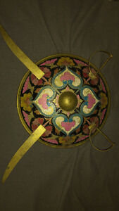 Swords and Shield Painted Decoration