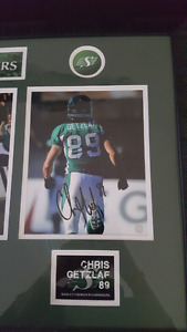 Autographed roughrider picture