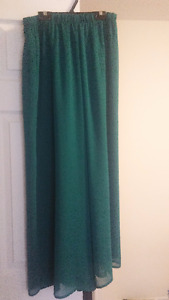 LONG MAXI TEAL CHIFFON SKIRT