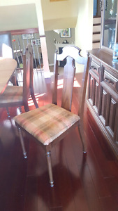 Dining table, buffet and hutch