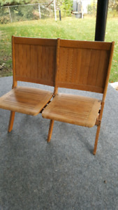 1910-1915Antique double attached bench, Readsboro chair company.