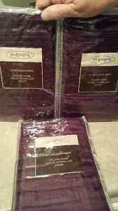 3 brand new purple Euro pillow covers 24 x 24