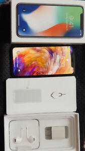 iPhone X 256GB Silver for sale.
