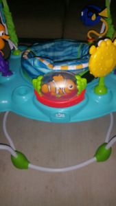 Two Baby Bouncer/saucer, diaper genie, play yard, play pen,