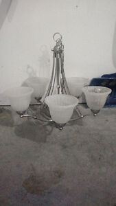 Five light chrome finish chandelier
