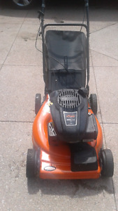 Self propelled lawn mower 2 in 1