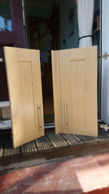 Kitchen cupboard doors, drawers, larder/pantry, corner cabinet inc hinges - shaker style pick up FK1