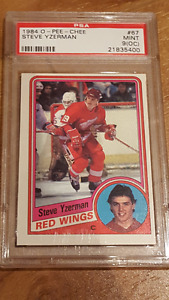 84-85 o-pee-chee complet 396 cartes Yzerman Rc / Gretzkty PSA 9