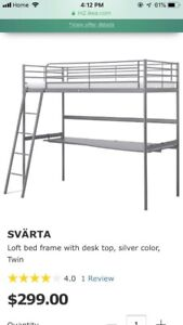 Excellent condition IKEA bunk bed with removable table