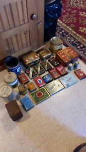 VINTAGE TOBACCO TIN COLLECTION;