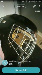 Ccm goalie helmet. Stainless cage.