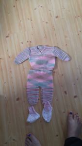Hand knitted outfit