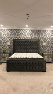 CUSTOM UPHOLSTERED TUFTED BEDS IN ANY COLOUR/SIZE