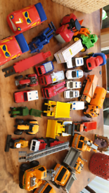 Job lot of diggers and vehicles