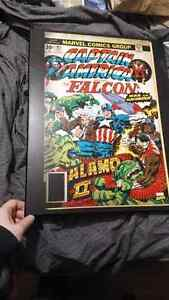 Hard wood retro marvel captain america wall art Kitchener / Waterloo Kitchener Area image 1