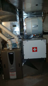 Central Humidifier Installation and Furnace Tune up
