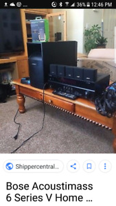 Bose acoustimass sound system with Yamaha receiver