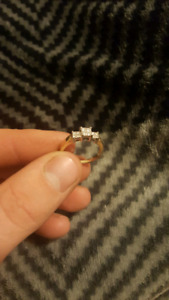 14k yellow gold/white gold lady's ring