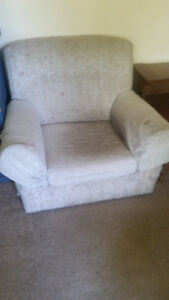 *MOVING SALE* White Chair With Footrest