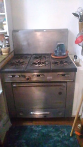 Used Garland commercial gas range.