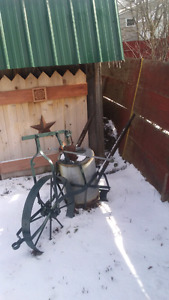 Antique water system makes great yard décor