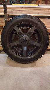 """22"""" Rockstar ll rims,  Nitto Terra Grappler G2 tires"""