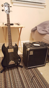 Bass Guitar and Accessories  For Sale   ($400 or best offer)