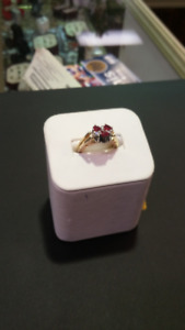 Ring, 2 in 1,  Diamonds only  or FLIP   Diamonds & Ruby setting