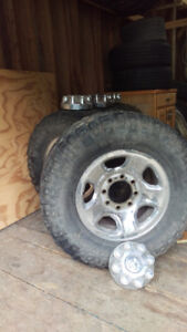 "17"" Dodge 8 Bolt Rims and Tires"