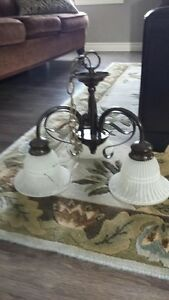 BROWN METAL CEILING LIGHTS TWO STYLES