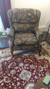 Wing Back Chair - abstract design -  moving must sell
