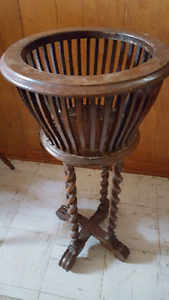 Antique flower pot stand