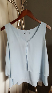 Cute sky blue sleeveless top