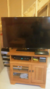 Samsung smart tv and sound bar and speaker