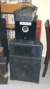 kenwood recevier with 6 speakers and a yamha sub woofier London Ontario image 3