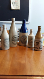 ANTIQUE GINGER BEER BOTTLES;