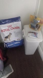 Dog food, treats and tic control